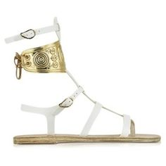 Ancient Greek Sandals with LALAoUNIS Rhodes White Leather Sandals