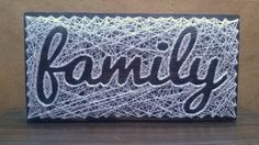String art Sign Love Customizable Wall hanging Wooden by Marambra