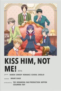 Animes To Watch, Anime Watch, M Anime, Girls Anime, Anime Guys, Anime Titles, Anime Characters, Kiss Him Not Me, Collage Mural