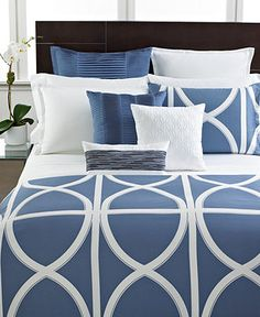 Hotel Collection Bedding, Transom Blue Collection - Hotel Collection Bedding - Bed & Bath - Macy's