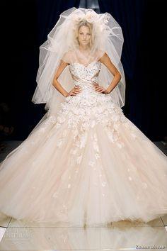 Zuhair Murad Couture Fall/Winter 2010-2011 - the finale ballgown wedding dress worn with veil