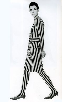 Peggy Moffitt wearing an outfit by Rudi Gernreich, 1964.