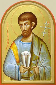 Sv. Ap. Vartolomej Byzantine Icons, Byzantine Art, Art Icon, Orthodox Icons, Roman Catholic, Saints, Spirituality, Gallery, Artist