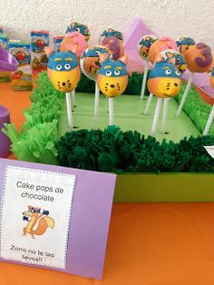 Swiper cake pops