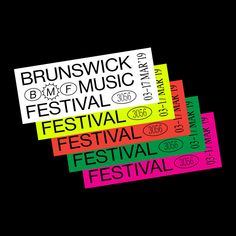 0645 - Repost - Brunswick Music Festival is Australia's longest running inner-city music festival, launched each year by… Page Layout Design, Web Design, Print Design, Ticket Design, Flyer Design, Branding Design, Brand Story, Social Media Design, Illustrations And Posters