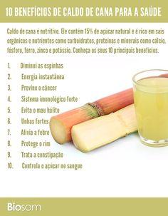 Clique na imagem para conhecer os detalhes dos 10 benefícios de caldo de cana para a saúde #cana #caldodecana #alimento #alimentação #alimentaçãosaudável #bemestar #saúde