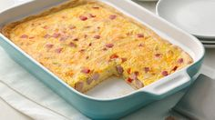 Whether you need an easy brunch dish or a quick idea for breakfast or dinner, this yummy egg bake feeds and pleases a crowd!