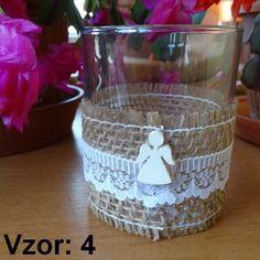Sklenený svietnik Jarko - Sviečka - Bez sviečky, Vzor - Vzor 4