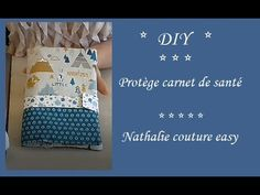 TUTO pour ce Protège carnet de santé avec une poche dans un rabat. - YouTube Easy Youtube, Creation Couture, Kids Health, Health Book, Nursery Design, New Years Eve Party, Baby Sewing, Projects For Kids, Baby Toys
