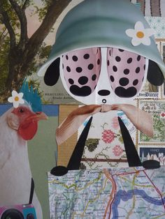 collage - dessin /  karine Bailly