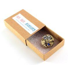 Mens brooch / steampunk brooch / watch by Ticktockjewellery