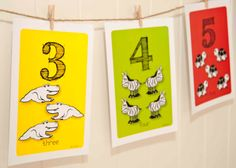 Number Zoo Wall Cards pack with hanging by printsbyHAZYprints, $15.00
