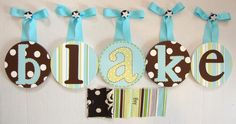 Round wall letters to match boy and girl twins baby nursery | Bellini Buzz