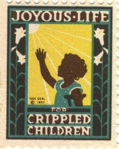 "1937 Easter Seal ""Joyous Life for Crippled Children"" #EasterSealsFL"