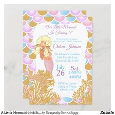 Little Mermaid Birthday, The Little Mermaid, Birthday Party Invitations, Party Favors, Custom Postage Stamps, Cake Picks, Exactly Like You, Kids Up, Party Fun