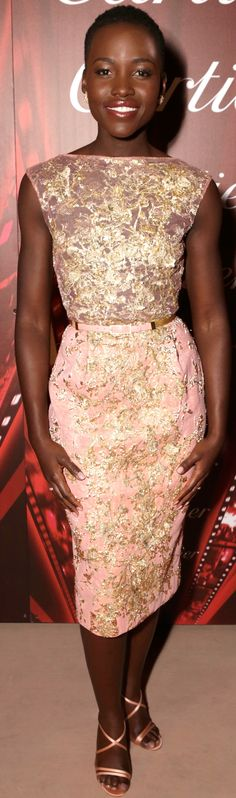 Lupita Nyong'o was sophisticated x 500 in Elie Saab Haute Couture and Louboutin sandals