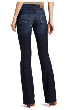 New Lucky Brand Womens Sweet N Low Ol Roof Top Boot Leg Denim Jeans 4 27 X 32 #LuckyBrand #BootCut