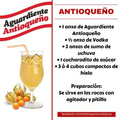 ¡Aguardiente Antioqueño combina con todo! #Aguardiente #Antioqueño #Coctel #Cocktail Fonda Paisa, Non Alcoholic Drinks, Beverages, Vodka, Party Drinks, Mojito, Cot, Coffee Drinks, Bartender