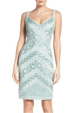 This pattern <3 Tadashi Shoji Sequin Mesh Sheath Dress