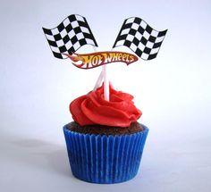 Place of Cakes: Cupcakes Hot Wheels do Bernardo