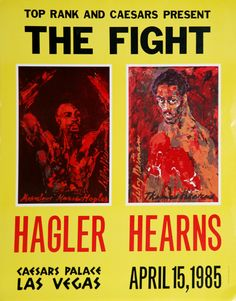Fight Museum Store - Marvin Hagler vs Thomas Hearns LeRoy Neiman Poster 31 x 25, (http://www.fightmuseumlv.com/marvin-hagler-vs-thomas-hearns-leroy-neiman-poster-31-x-25/)