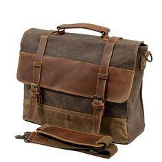 AETOO New waterproof oil wax with crazy horse leather briefcase men bag  retro business package shoulder Messenger bag cb8e0e1d323c7