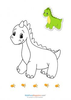 Match Up Coloring Pages – Dinosaur | Aktivitäten für Kinder ...