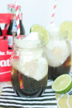 Dirty Coke Floats with Coconut Ice Cream!