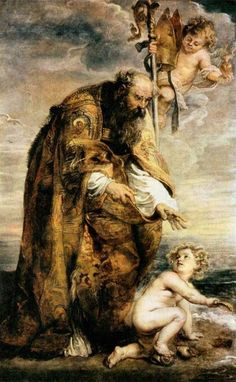 Augustine of Hippo by Peter Paul Rubens Peter Paul Rubens, Catholic Art, Religious Art, Catholic Saints, Rembrandt, Rubens Paintings, Baroque Art, Oil Painting Reproductions, Caravaggio