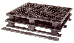 Medium weight 1200x1000x140mm nestable pallet, slightly heavier duty than PL110.      Min order of 25pcs.  1200x1000x120mm pallet designed for a heavier load than the standard 110 pallet.  The addition of skids increases the load the pallet can hold as well as provide greater stability where an uneven load is being stored.   Pallet will be supplied UN-ASSEMBLED Pallet Manufacturers, Plastic Pallets, Pallet Designs, Plastic Containers, Stability, Old Things, Medium, Table, Home Decor