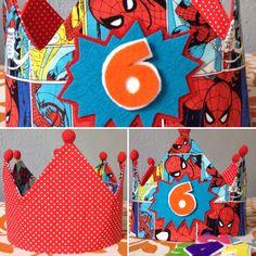 Corona  de cumpleaños  modelo Spiderman  handmade ✂️