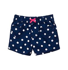Product: Carter's® Baby Girls' Navy Polka-Dot Woven Shorts