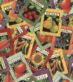 Handy with a sewing machine? Use this Seed Packet printed fabric from Joann.com to make your favorite gardener a pillow or apron!