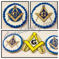 Cookies for a celebration at Masonic Lodge #388 in Forest City, Ohio. These cookies will be wrapped in cellophane and tied with a ribbo...