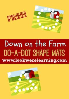 Get these free Do A Dot Farm Printables to help preschoolers practice making basic shapes!