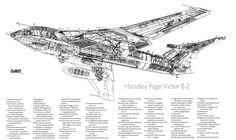 Handley Page Victor Cutaways - ED Forums Handley Page Victor, Navy Aircraft, Military Aircraft, Cutaway, Airplane Drawing, Aircraft Design, Royal Air Force, Aviation Art, Royal Navy