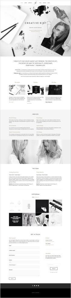 Inspiración Web Creative Riot - this design is beautiful and minimalistic. :) #Responsive #Web #design