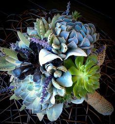 Bouquet sposa per l'inverno - Bouquet invernale con piante grasse