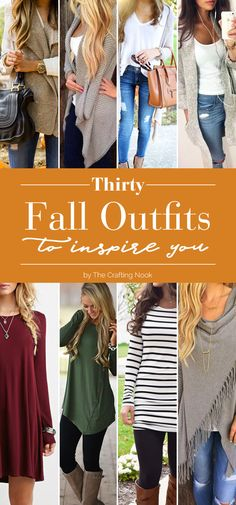 If you love Fall as much as I do you will get a blast of inspiration with all these 30 Fall Outfits to Inspire You. Love the color trends and the oversize cardigans and sweaters!