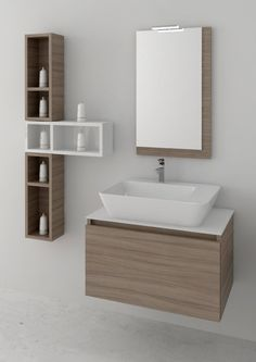 space 70cm space 07 rovere olio-bianco : Έπιπλα μπάνιου Novebagno Washroom Design, Bathroom Design Luxury, Bathroom Design Small, Wooden Coffee Table Designs, Washbasin Design, Guest Bathroom Remodel, Vanity Basin, Bath Cabinets, Bathroom Furniture