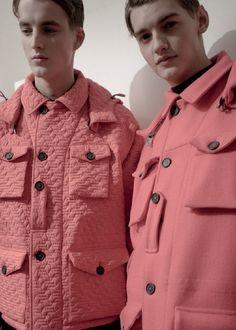 Men's Pink salmon designer coats