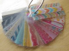 Good idea for cataloging washi or deco tapes