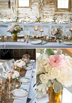 rustic glam table decor @weddingchicks