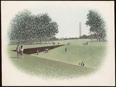 [Vietnam Veterans Memorial, Washington, D.C., With The Washington Monument  In The Distance