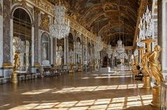 The Royal Digest: Royal Residences: The Hall of Mirrors at Palace of Versailles