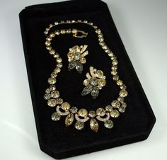 Vintage Necklace Earrings Eisenberg Ice Citrine by zephyrvintage, $175.00...what a beautiful set!!