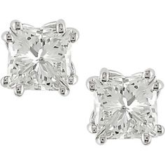 @Overstock - Diamond stud earrings belong in every woman's jewelry boxStunning earrings feature dazzling princess-cut diamonds  Diamonds are set in gleaming 18-karat white goldhttp://www.overstock.com/Jewelry-Watches/18k-Gold-2ct-TDW-Princess-cut-Diamond-Earrings/3037805/product.html?CID=214117 $7,030.99