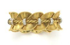 Bracelet _ Cartier - or & diamants- 1950