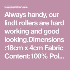 Always handy, our lindt rollers are hard working and good x Fabric Polyester Rollers, Bathroom Accessories, Work Hard, How To Look Better, Content, Fabric, Tejido, Bathroom Fixtures, Tela
