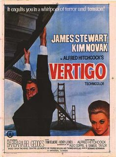Vertigo is a 1958 psychological thriller film directed and produced by Alfred Hitchcock. The story was based on the 1954 novel D'entre les morts by Boileau-Narcejac. The screenplay was written by Alec Coppel and Samuel A. Taylor.